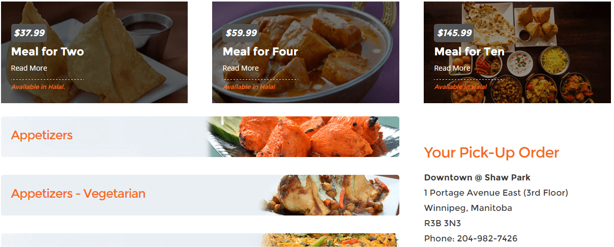 Mouth Watering food images make your menus stand out! | Hello Websites