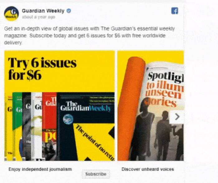 Top 5 Creative Facebook Carousel Ad Examples 5