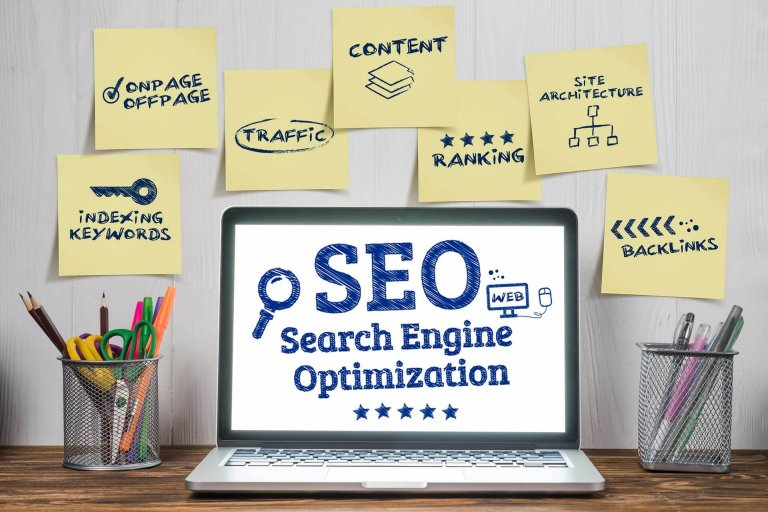 search engine optimization on a website
