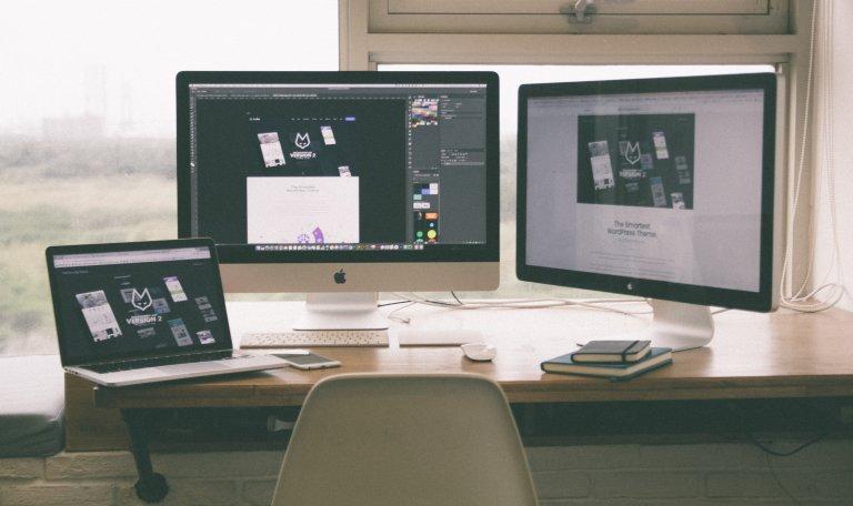 Website Design in progress on a computer